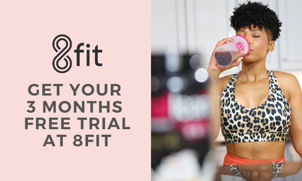 Get your 3 months free trial at 8fit on all orders!