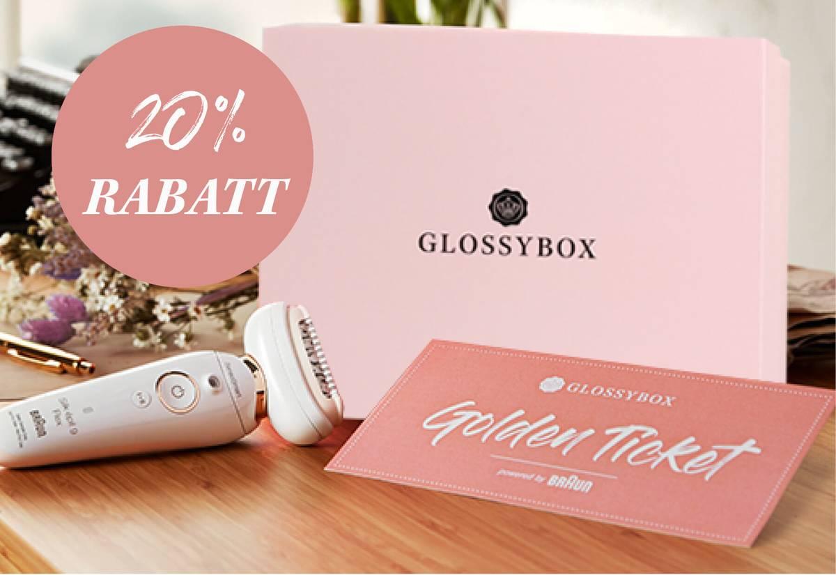 neukunden box glossybox 20 prozent