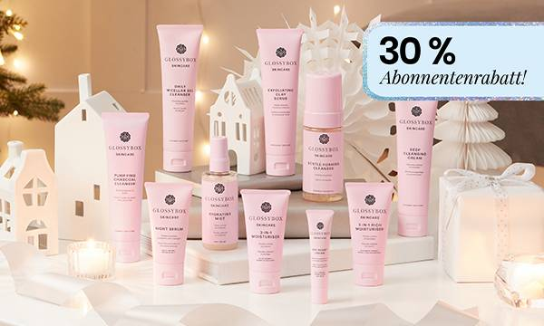 GLOSSYBOX Skincare 30 % Rabatt