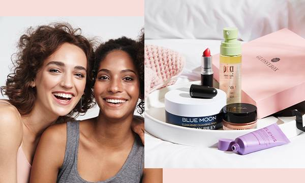 GLOSSYBOX refer a friend models smiling
