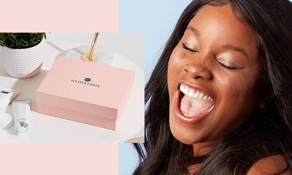 Model with pink GLOSSYBOX