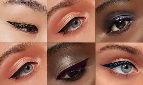 Verwende unsere Eyeliner, um zu experimentieren und einen präzisen, dramatischen Look zu erzeugen.