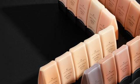 Buff in flawless skin; medium, light & high coverage foundation.
