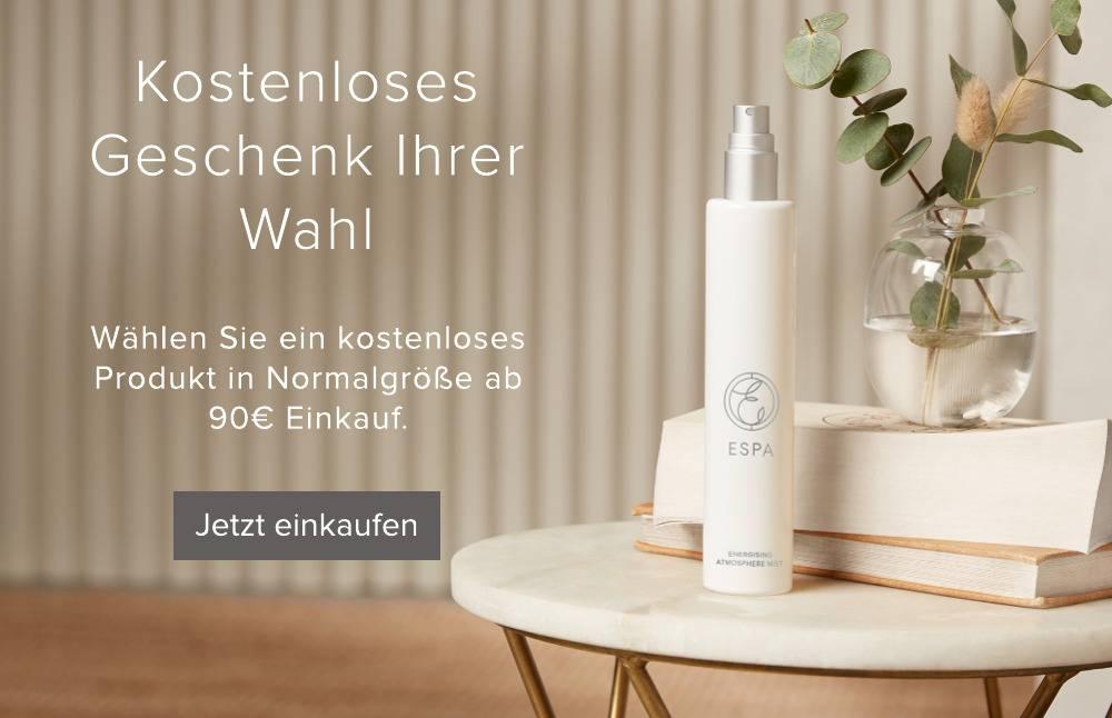 Kostenloses Produkt in Normalgroesse ab 90 Euro Einkauf