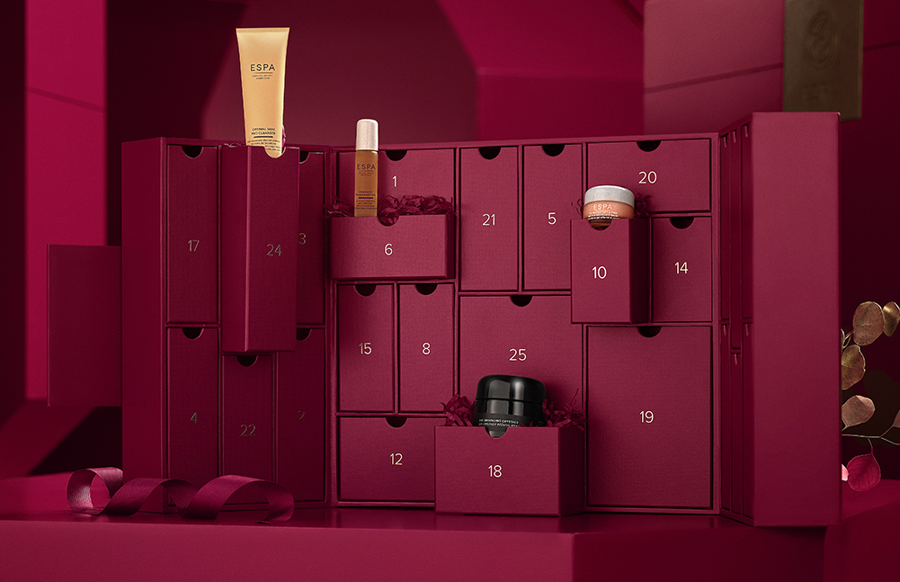 ESPA's Hidden Treasures Advent Calendar.  Now available for Pre-Order.  Pre-order now and enjoy £5 credit on your account to spend in November. Click to pre-order