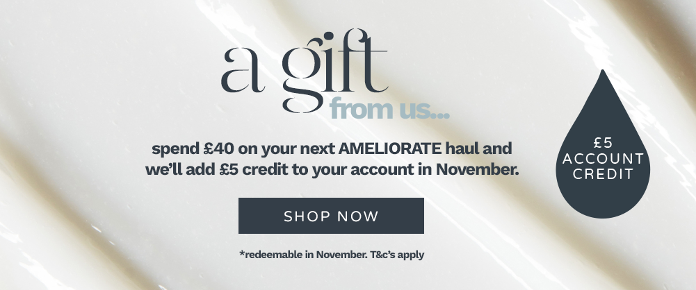 Spend £40 and we will add £5 credit to your account in November. Terms and Conditions Apply