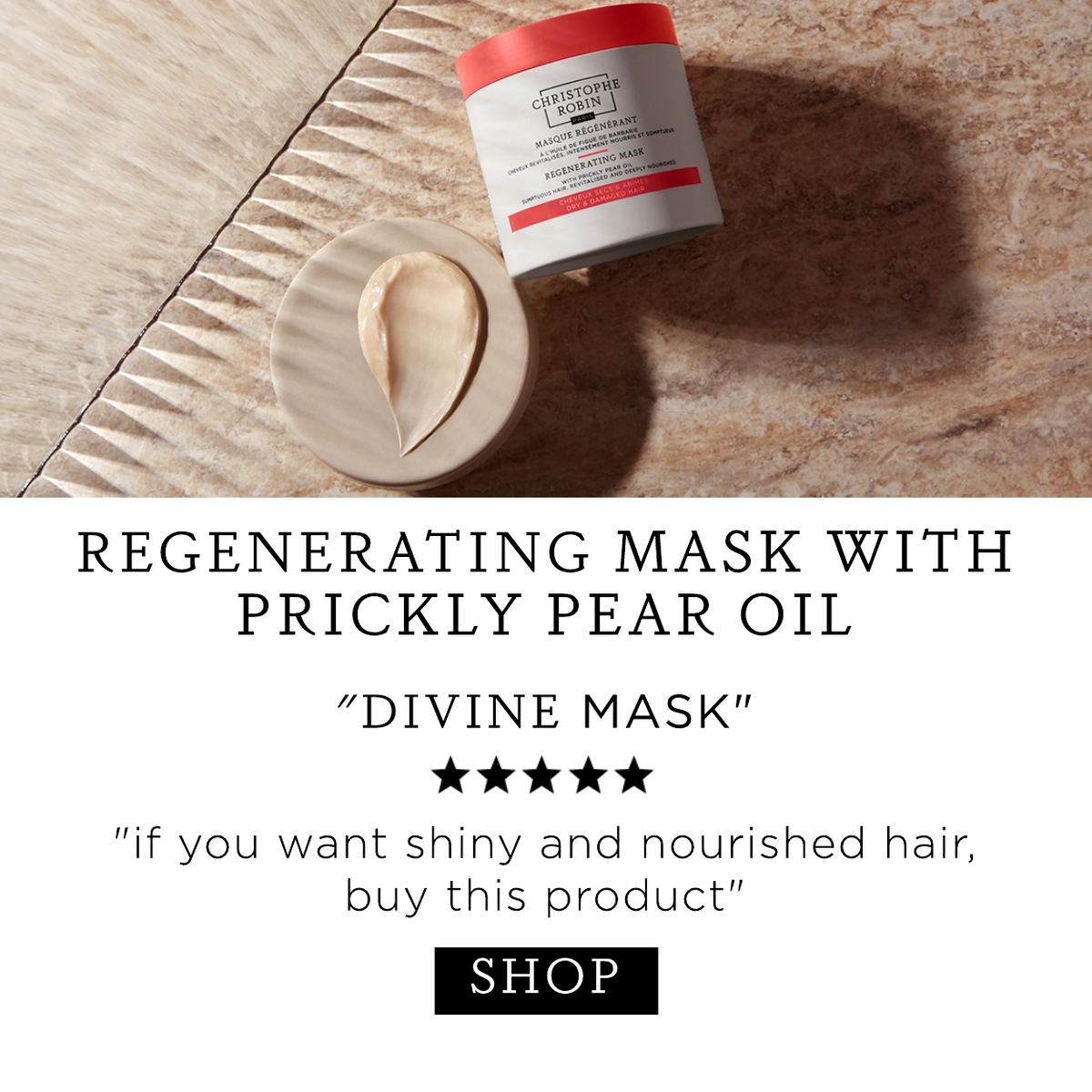 Regenerating Mask with Prickly Pear Oil - 5 star review: