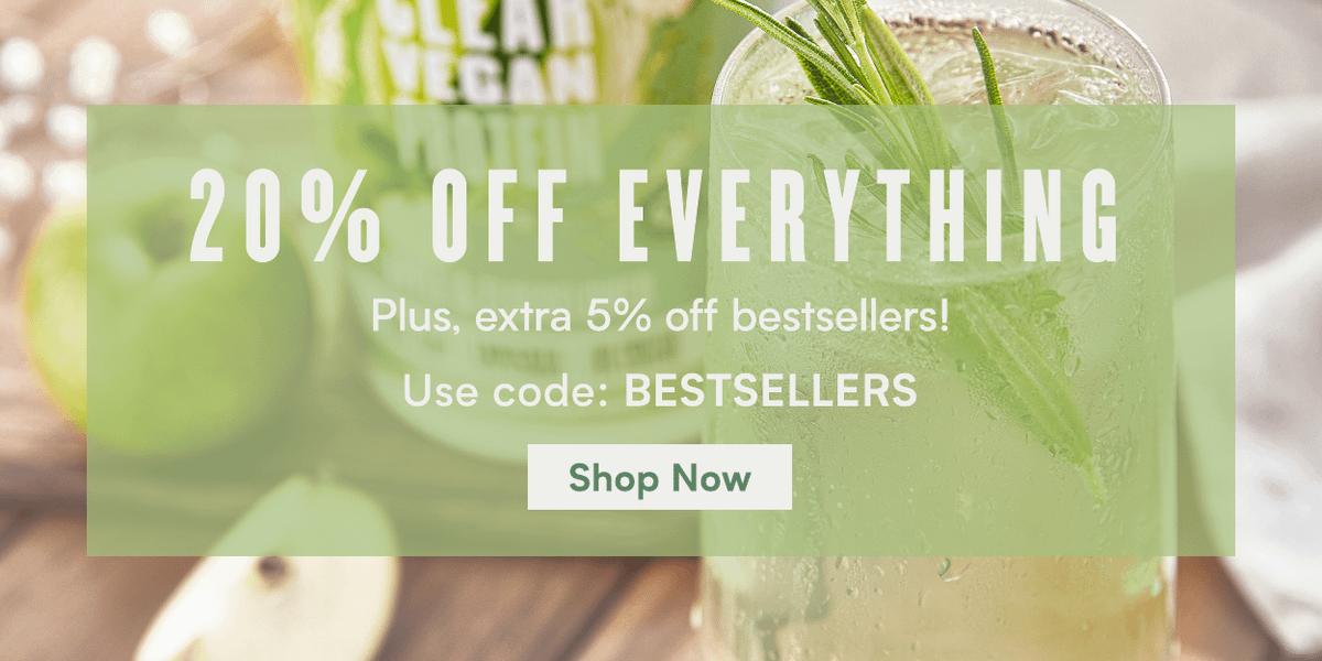20% off Everything + Extra 5% on Bestsellers | Code:BESTSELLERS