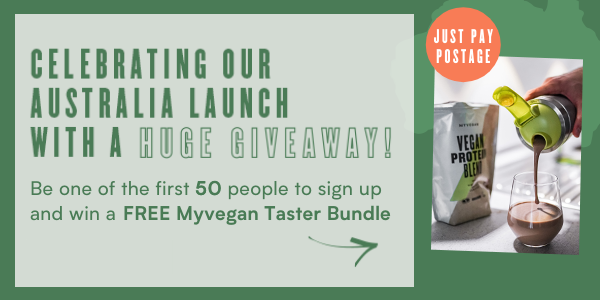 Be one of the first 50 people to sign up to win a FREE Myvegan Taster Bundle