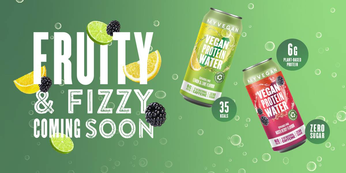 Coming Soon - Sparkling Vegan Protein Water