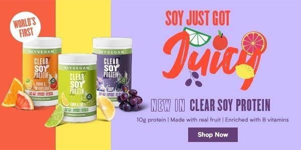 New in Clear Soy Protein