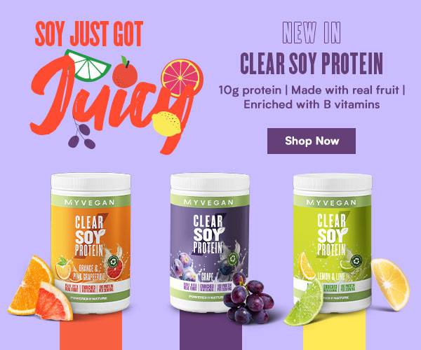 New in: Clear Soy Protein