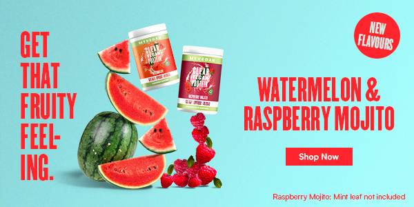 Clear Vegan Protein Watermelon and Raspberry New Flavours