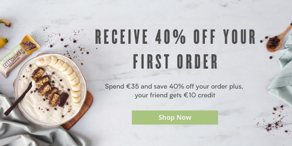Receive 40% off your first order