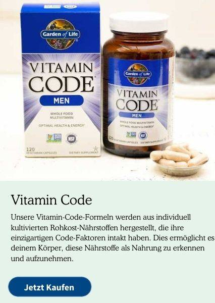 Vitamin Code Supplements. Our Vitamin Code formulas are made using individually cultivated Raw Food Created Nutrients that have their unique Code Factors intact. This enables your body to recognise these nutrients as food.