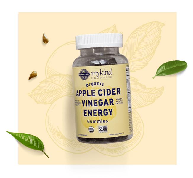 mykind Organics Vinagre de sidra de manzana con cafeína