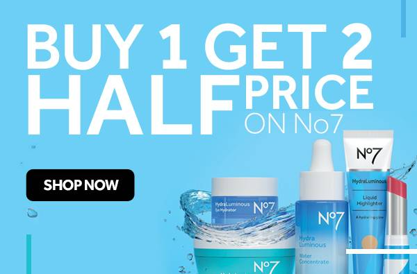 Buy One Get Second Half Price on all No7