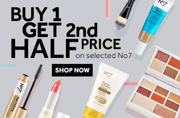 Buy One Get Second Half Price on selected No7