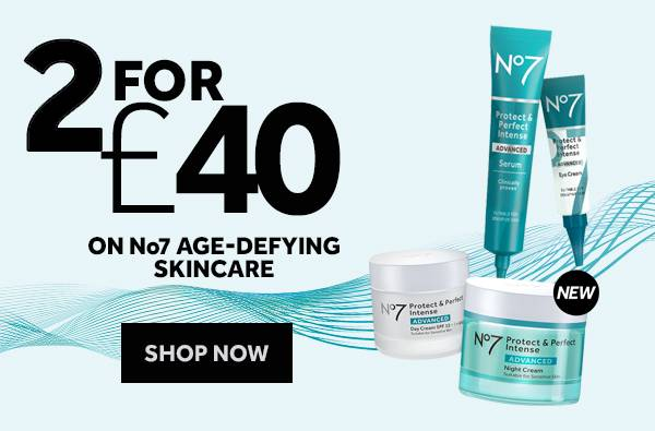 2 for 40 pounds on No7 Age-Defying Skincare