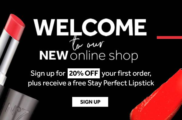 20% off Your First Order When You Sign Up And Receive Free Stay Perfect Lipstick