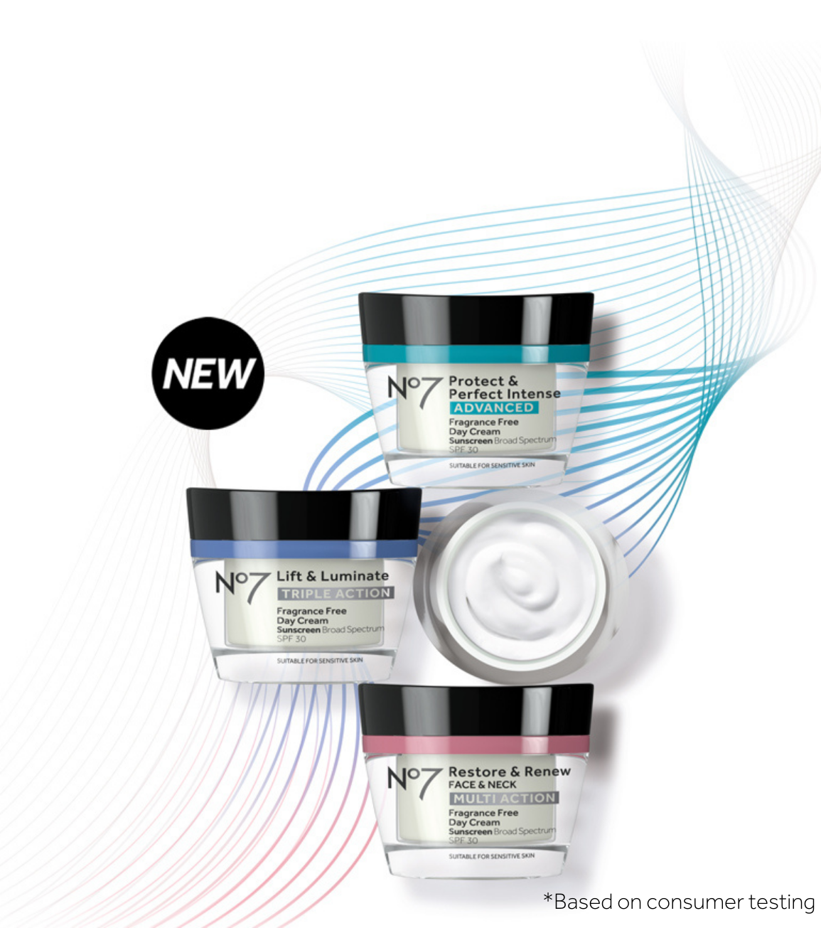 New In! No7 Fragrance Free Day & Night Cream. Your No7 favorites with a fragrance free formula.