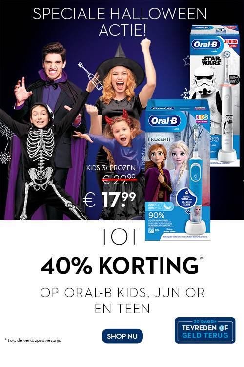 TOT 40% KORTING OP ORAL-B KIDS, JUNIOR EN TEEN