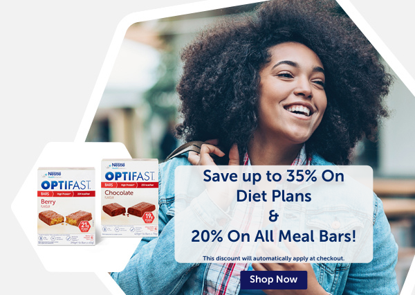 Up to 35% Off Diet Plans and 20% Off All Meal Bars!