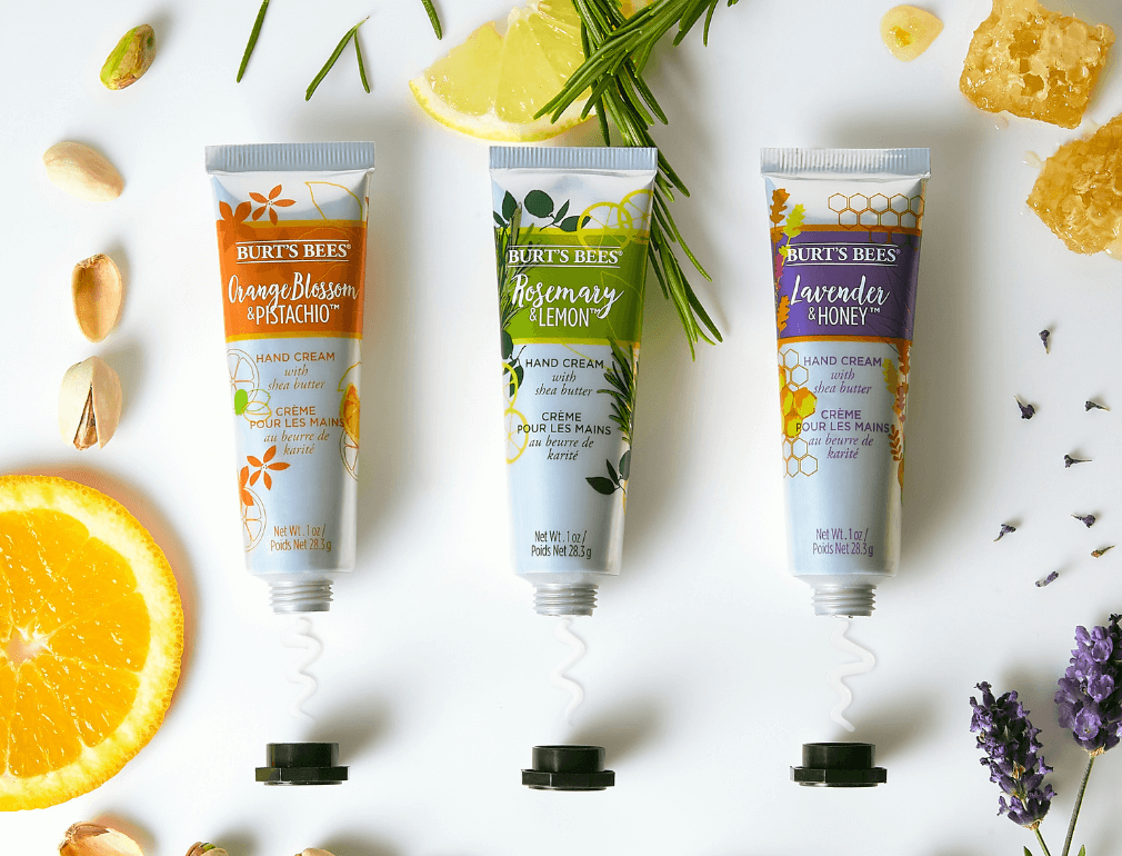 Trio of Burt's Bees Botanical Hand Creams with Shea Butter