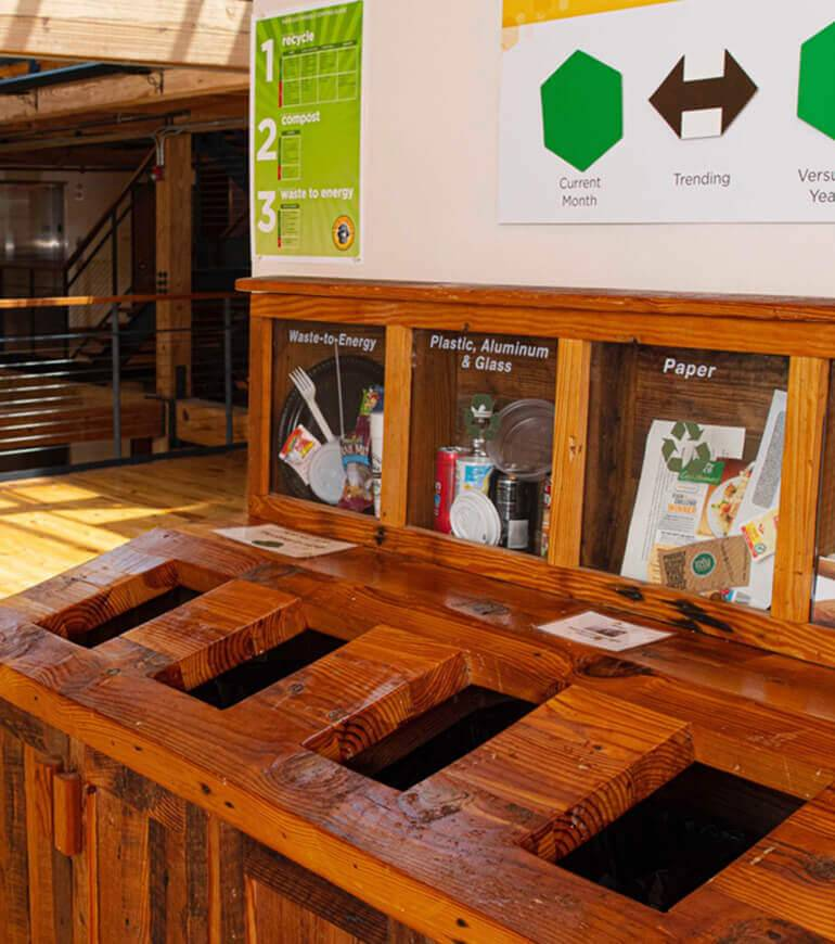 A recycling centre