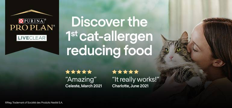 Purina ProPlan LiveClear Kitten. Reduces allergens on cats' hair and provides outstanding nutrition. Shop now.