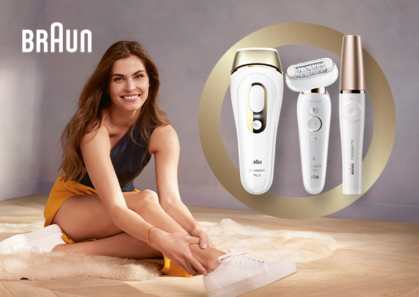 Up to 55% on selected Braun Epilators and IPL