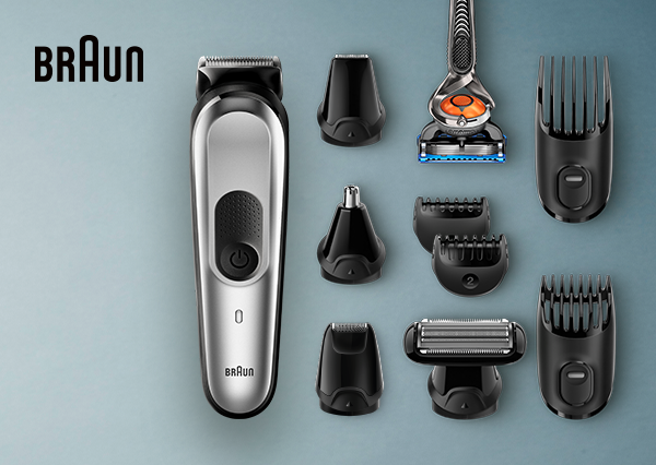 Imagine the barber style at home. Braun Trimmers.