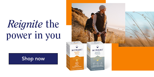 Support your Joints and fitness levels with Minami Omega-3 supplements