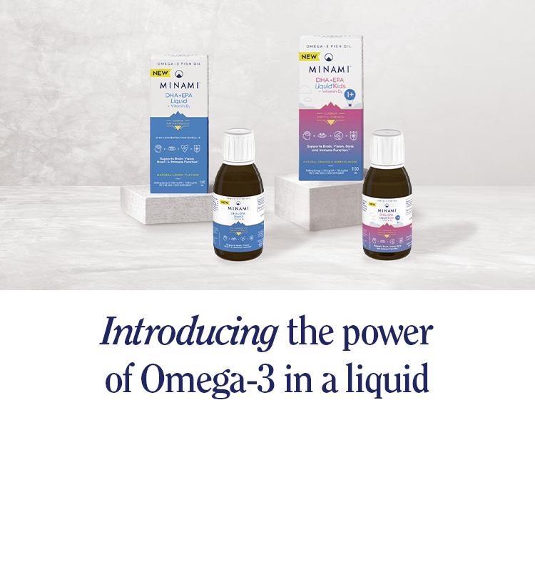 Explore the power of liquid omega-3