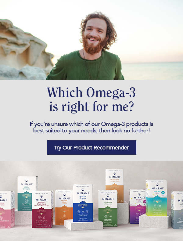 Minami Products - Which Omega-3 is right for me? If you're unsure which of our Omega-3 products is best suited to your needs, look no further! Try our product recommender