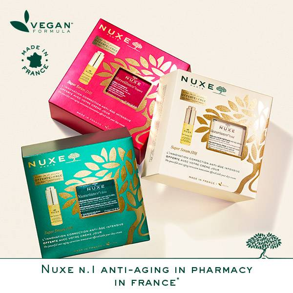 Vegan formula made in France merveillance expert set Nuxe No1 anti-aging in pharmacy in France*