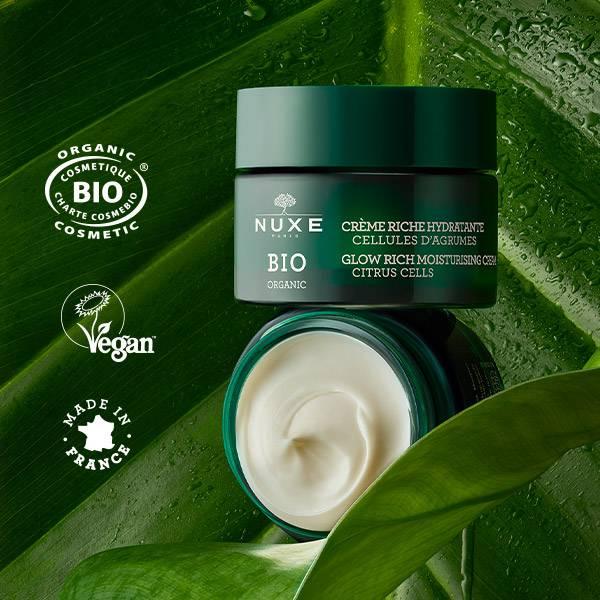 Organic cosmetic (Cosmetique bio charte cosmebio), vegan, Made in France