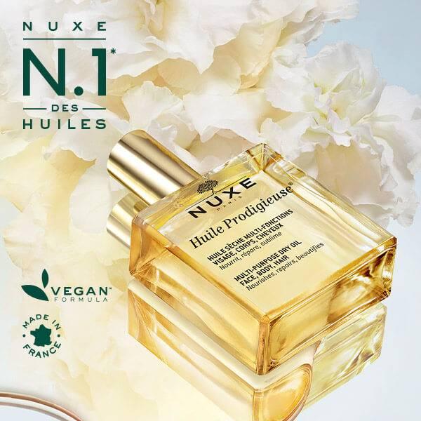 Nuxe No1 des huiles vegan formula made in France  Huile Prodigieuse®