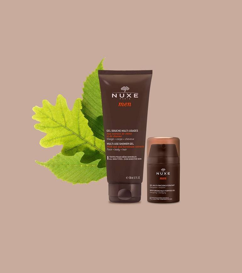 Nuxe Men collection page