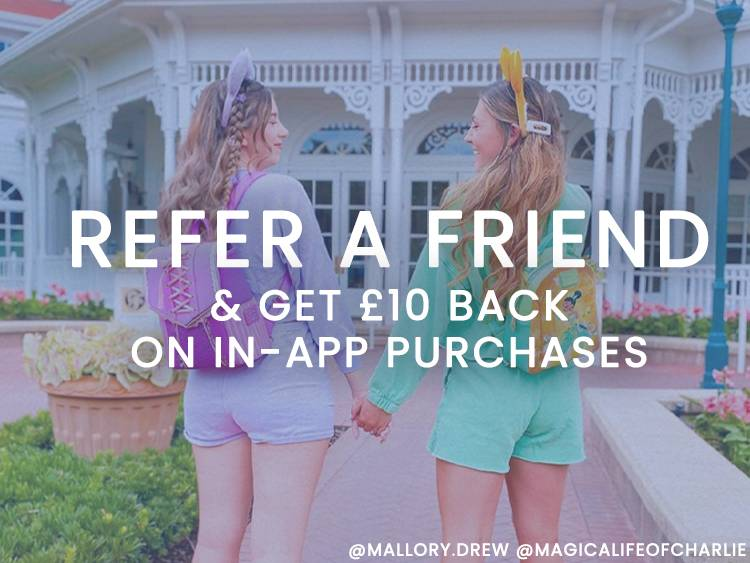 Get double credit for in-App referral purchases..