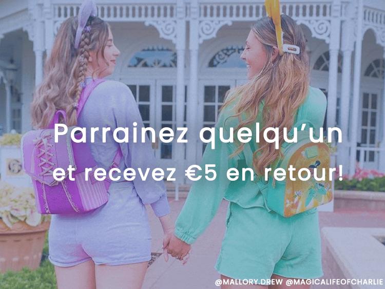 Parrainez quelqu'un et recevez €5 en retour!