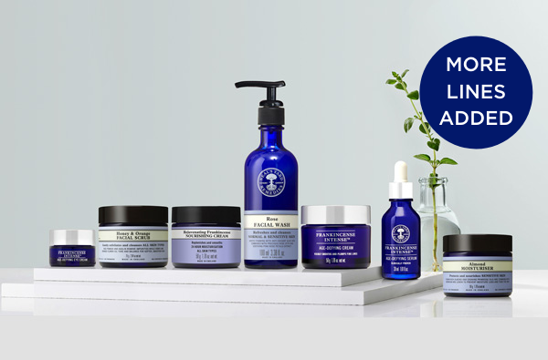 Receive 15% off your natural & organic skincare favourites when you spend £50 and 25% off when you spend £70.