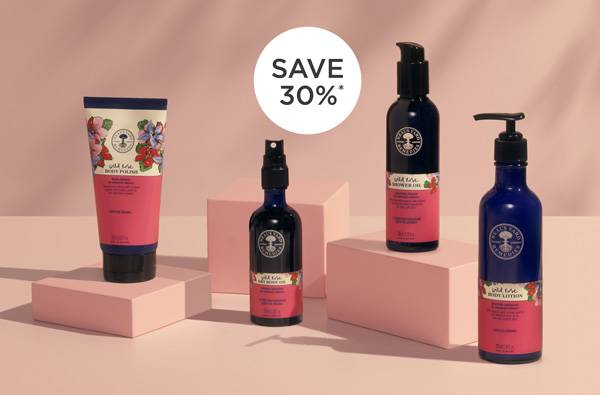 Pamper yourself with natural & organic body care. 30% OFF* when you buy any two Wild Rose Body products