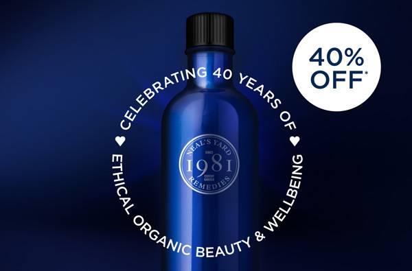 40% off - celebrating 40 years
