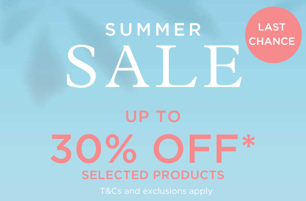 Summer sale - up to 30% off selected products