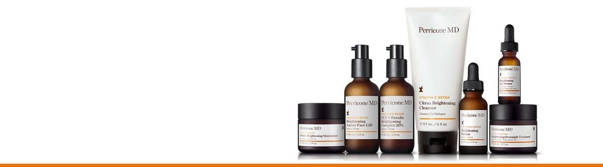 Unsere patentierte Vitamin C Ester-Hautpflege ist optimal für jeden Hauttyp und bietet eine überragende aufhellende und glättende Wirkung mit weniger Irritationen als herkömmliches Vitamin C.