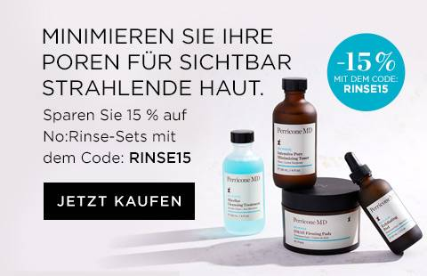 Save 15 percent on our No:Rinse collection with code PORE15