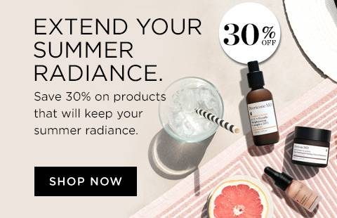 30 percent off selected products to extend your summer glow