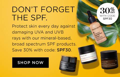Don't forget the SPF