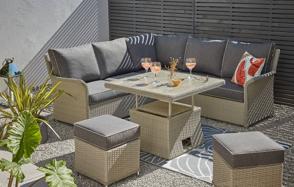 Shop the look - Cornbury Corner Garden Sofa Set